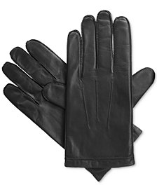 Isotoner Men's Smooth Leather smarTouch® Gloves
