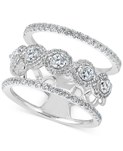 Diamond Stack-Look Ring (1-1/4 ct. t.w.) in 14k White Gold