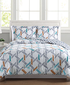 Flynn Reversible 3-Pc. Full/Queen Comforter Set, Created for Macy's
