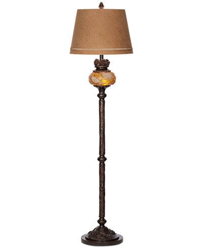Pacific coast pine cone floor lamp