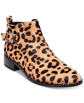 STEVEN by Steve Madden Women's Leopard Clio Booties