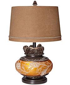 Pacific Coast Amber Pine Cone Lamp