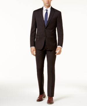 Dkny Men's Slim-Fit Charcoal Textured Suit thumbnail