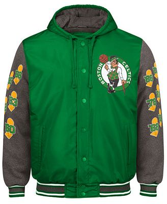 G-III Sports Men's Boston Celtics Top Brass Hooded Varsity Jacket ...