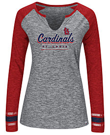 Women's St. Louis Cardinals Running Out Long Sleeve T-Shirt