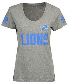 '47 Brand Women's Detroit Lions Ultra Club Scoop T-Shirt