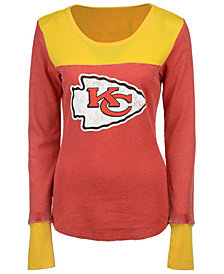 Touch By Alyssa Milano Women's Kansas City Chiefs Blindside Thermal Long Sleeve T-Shirt