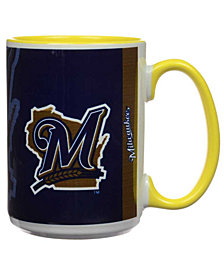 Milwaukee Brewers 15oz Super Fan Inner Color Mug