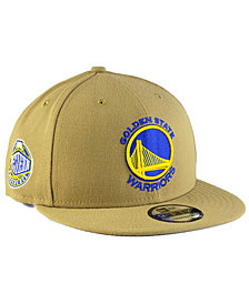 New Era Golden State Warriors Tan Top 9FIFTY Snapback Cap
