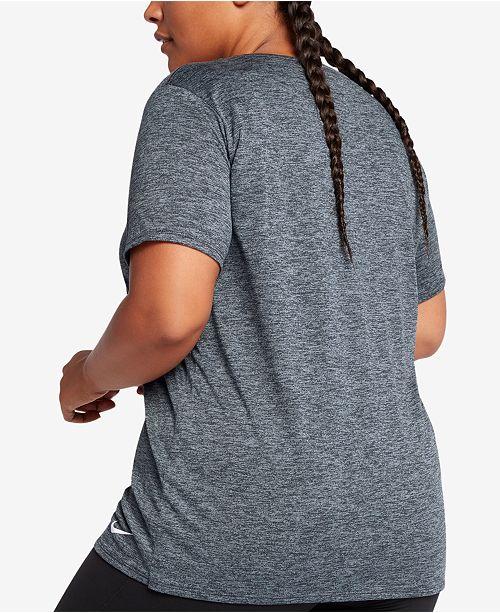 1de60e79e0561 Nike Plus Size Dry Legend Training T-Shirt   Reviews - Tops - Plus ...