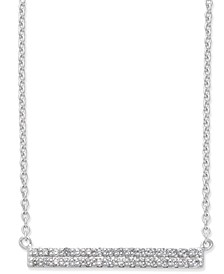 Diamond Horizontal Bar Pendant Necklace (1/5 ct. t.w.) in 14k White Gold