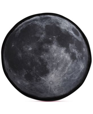 "Kids Night Sky Moon-Print 15"" Round Decorative Pillow"