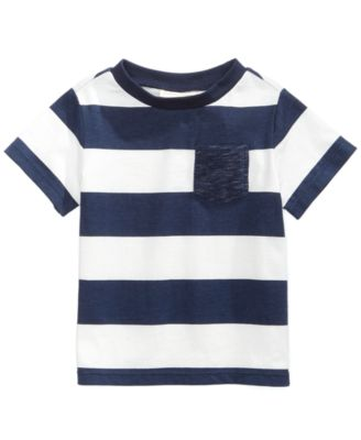 c2350f0430d5 First Impressions Rugby-Striped Cotton T-Shirt