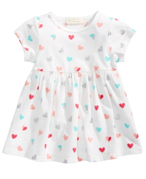 First Impressions HeartPrint Cotton Babydoll Tunic Baby Girls (024 months) Created for Macys