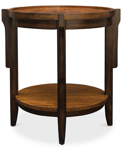 Sigmon Round Wooden End Table, Quick Ship