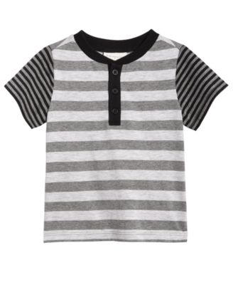fcee79d5964c First Impressions Striped Henley T-Shirt
