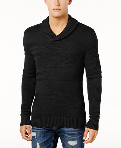 American Rag Men's Mix Stitch Shawl Sweater, Created for Macy's