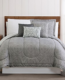 Calista 12-Pc. Medallion-Print Comforter Sets