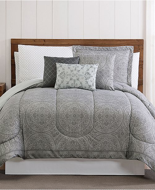 Style 212 Calista 12-Pc. Medallion-Print King Comforter Set