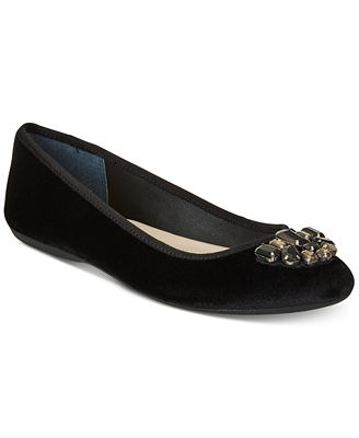 Alfani Women's Step 'N Flex Aleasha Velvet Ballet Flats, Created for Macy's