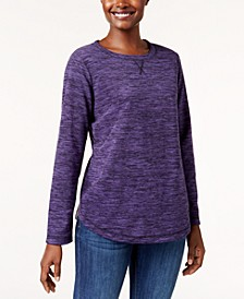 Space-Dye Microfleece Top, Created for Macy's