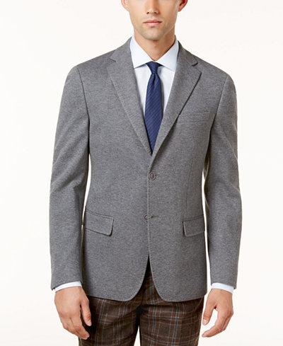 Calvin Klein Men's Slim-Fit Gray Knit Jacket