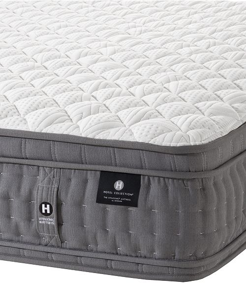 """Hotel Collection by Aireloom 13"""" Vitagenic Hand Made Extra Firm Euro Top Mattress, Created for Macy's- Twin"""