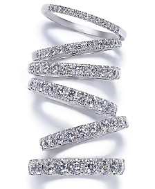 Dazzling Pavé Diamond Band Collection in 14k Gold and White Gold