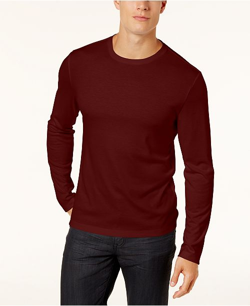 5e5a782b ... Alfani Men's Soft Touch Stretch Long-Sleeve T-Shirt, Created for Macy's  ...