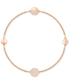 Remix Collection Rose Gold-Tone Pavé Sphere Magnetic Closure Bracelet