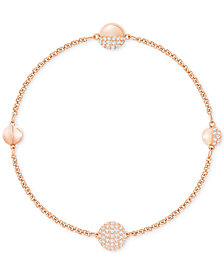 Swarovski Remix Collection Rose Gold-Tone Pavé Sphere Magnetic Closure Bracelet
