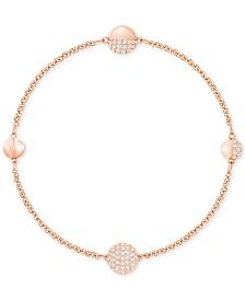 Swarovski Remix Collection Rose Gold-Tone Pavé Sphere Magnetic Closure Bracelet