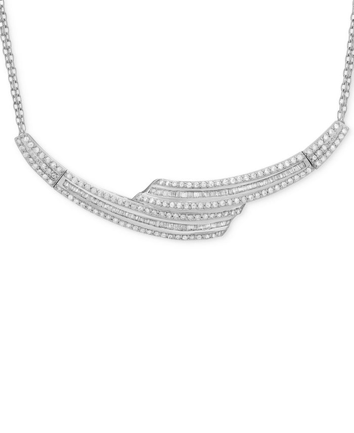 Wrapped in Love - Diamond Collar Necklace (2 ct. t.w.) in Sterling Silver