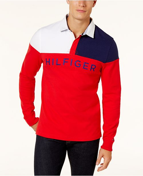 1dcce4aab ... Tommy Hilfiger Men's Harbor Rugby Polo, Created for Macy's ...