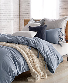 DKNY PURE Stripe Blue Twin Duvet Cover