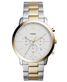 Fossil Men's Chronograph Neutra Two-Tone Stainless Steel Bracelet Watch 44mm
