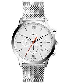 Fossil Men's Chronograph Neutra Stainless Steel Mesh Bracelet Watch 44mm