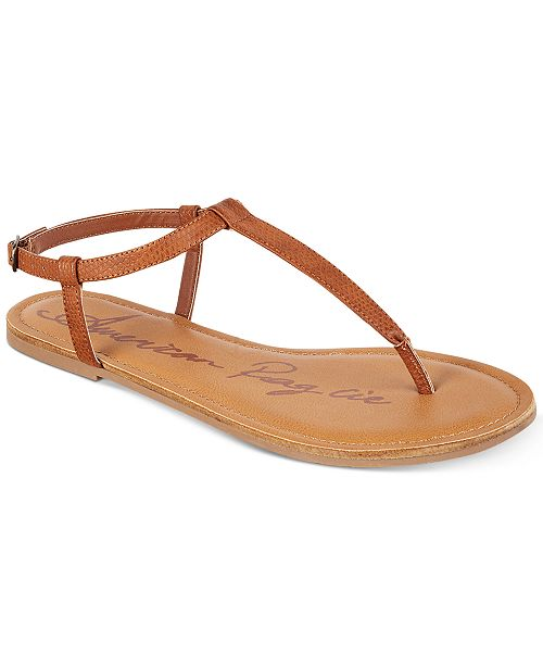 american rag krista t strap flat sandals created for macy s