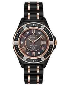 Women's Diamond-Accent Marine Star Two-Tone Ceramic Bracelet Watch 37mm