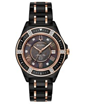 ead46527b Bulova Women's Diamond-Accent Marine Star Two-Tone Ceramic Bracelet Watch  37mm