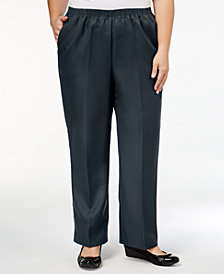 Alfred Dunner Plus Size Pull-On Straight-Leg Pants