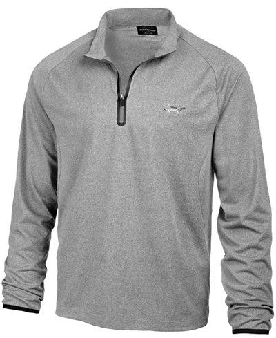 Greg Norman for Tasso Elba Men's Piqué Quarter-Zip Sweatshirt ...