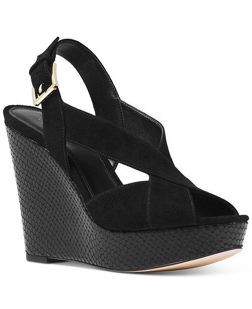 14fdd7f7183 Michael Kors Becky Wedge Sandals   Reviews - Sandals   Flip Flops ...