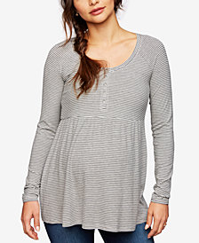 A Pea In The Pod Maternity Ribbed Babydoll Top