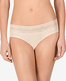 Natori Maternity Lace-Trim Bikini-Cut Briefs