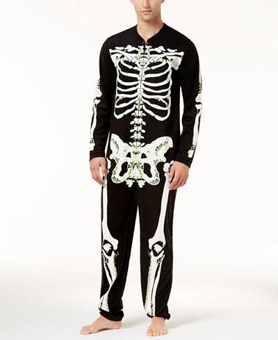 Bioworld Men's Skeleton Union Suit