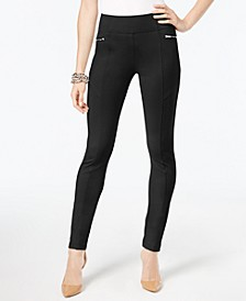 INC Curvy-Fit Skinny Moto Pants, Created for Macy's