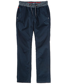 Univibe Elastic Waist Cotton Pants, Big Boys