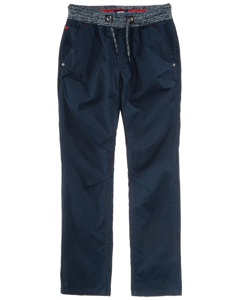 Univibe Elastic Waist Cotton Pants, Big Boys