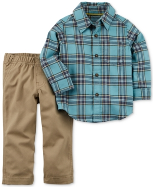 Carters 2Pc Cotton Flannel  Pants Set Toddler Boys (2T5T)